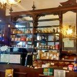 Pharmacy Cafe, Newton Abbot. Original pharmacy fittings.