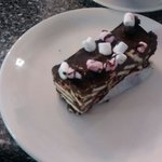 Pharmacy Cafe, Newton Abbot. Delicious Home Made Rocky Road Cake  Mmmmmm