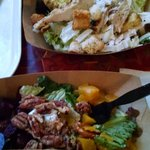 Beet salad, Chicken Caesar salad