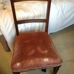 Oh dear some of the place is a little tired.. Chair in room 6