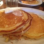 Great buttermilk pancakes with a slightly crisp edge