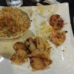 Shrimp and Scallops was served like this on my plate. After taking photo, they brought me more s