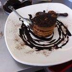 millefoglie di tegole con mousse al cioccolato
