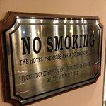 Wish this were true - heavy smoking in the Lobby