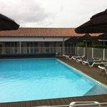 La piscine mais fermée pendant notre période