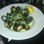 Delicious mussels - starter portion is big enough
