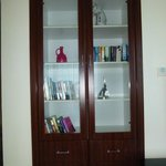 Book case in living area