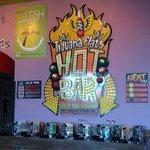 The famed Hot Sauce Bar here at Tijuana Flats