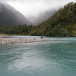 Looking up the valley on the Waiatoto River