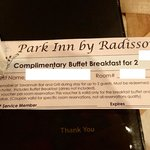 Not so complimentary breakfast pass