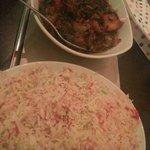 Saag Paner and a Pilau Rice