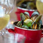 Freshly Steamed  Green Lipped Mussels