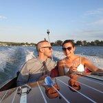 Engagement celebration on the Dreamboat!