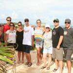 The group of happy travellers at Tulum
