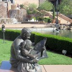 Dad and Child Sculpture, Blackhawk Plaza, Danville, CA
