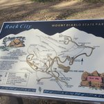 Rock City Map, Mount Diablo State Park, Ca