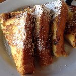 Full serve French toast minus cream & maple-berry syrup...the driest FT I've ever had