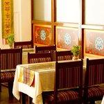 Tibetan styled decorated restaurant