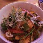 Red curry prawn rice dish. Fantastic.