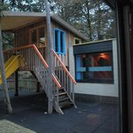 Children bungalow. You can acces the tree house from the playroom inside the bungalow