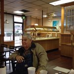 John Blair likes mornings at Andy's with friends!