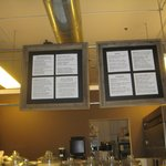 Menu board and counter area