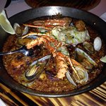Over cooked dry seafood paella