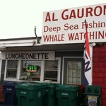 Front of the Luncheonette facing the road into Hampton Beach from the bridge.