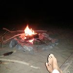 Bonfire on the beach. Yahoo!!