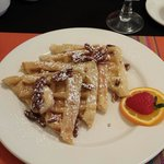 Belgium Waffles with Maple butter, Syrup and pecans!!