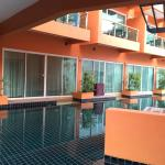 View of pool access room