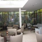 Bar/Salão de Café ou Chá junto a recepção do hotel.