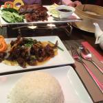 duck and crispy beef..chen pi niu