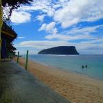 View from beach fale