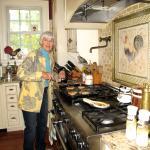 Jane making pancakes