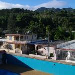 View from the back balcony: Pool & Gigante Dormido Mountains
