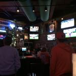 View of the bar and TVs