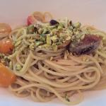 Pistachio pasta - a little too sweet compared to authentic sicilian cooking.