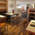 Cosy, comfortable interior of restaurant