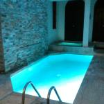 our own pool and hot tub