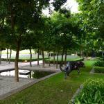 Gardens at restaurant entrance