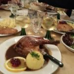 Goose dinner at the beer hall