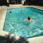 Grandkids enjoying pool
