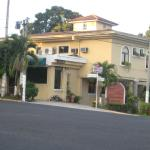 Here is the view of the hotel from the street