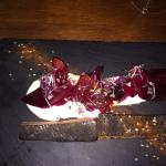 Home cured salmon, Greek yog (strained in house) and different beet roots! Amazing!!!!