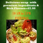 Turkey Wrap only 10AM to 3PM