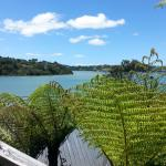 View from our cottage porch looking out onto Sandspit Inlet, at the mouth of Kawau Bay.