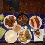 Ingredientes para los tacos de la fiesta