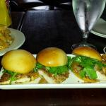 Pecan & pear chicken sliders