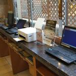 フロント設置の無料PC